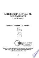 Literatura actual al País Valencià (1973-1992)