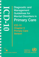 Diagnostic and Management Guidelines for Mental Disorders in Primary Care Book