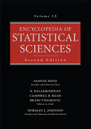 Encyclopedia of Statistical Sciences  Volume 12
