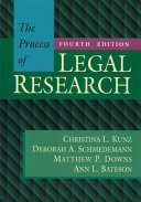 The Process of Legal Research Book