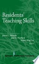 Residents Teaching Skills Book