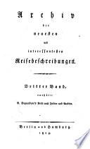 Reise nach Indien und Arabien in den Jahren 1789 und 1790, Voyage dans l'Inde et au Bengale German