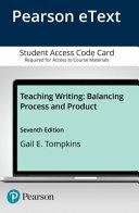 Teaching Writing Enhanced Pearson Etext Access Card Book