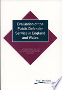 Evaluation of the Public Defender Service in England and Wales