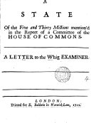 Pdf A State of the Five and Thirty Millions Mention'd in the Report of a Committee of the House of Commons