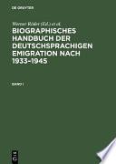 Biographisches Handbuch der deutschsprachigen Emigration nach 1933–1945