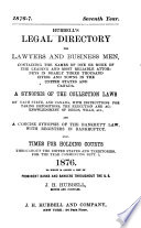 Hubbell s Legal Directory for Lawyers and Businessmen