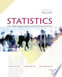 """Statistics for Management and Economics + XLSTAT Bind-in"" by Gerald Keller"