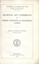 Municipal Art Commissions and Street Lighting in European Cities