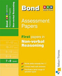 First Papers in Non-Verbal Reasoning 7-8 Years