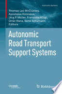 Autonomic Road Transport Support Systems Book