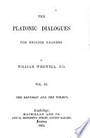 The Platonic Dialogues for English Readers Book PDF