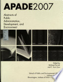 Abstracts of Public Administration, Development, and Environment