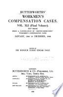Butterworths' Workmen's Compensation Cases