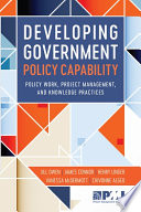 Developing Government Policy Capability