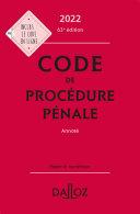 Pdf Code de procédure pénale 2022, annoté - 63e ed. Telecharger