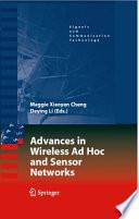 Advances in Wireless Ad Hoc and Sensor Networks Book