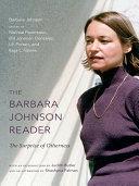 Pdf The Barbara Johnson Reader