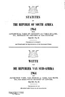 Statutes of the Republic of South Africa Book