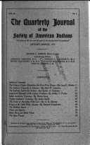 The Quarterly Journal of the Society of American Indians