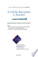 A Child Becomes a Reader