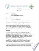Memorandum Report