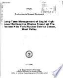 Liquid Radioactive Waste Storage  Nuclear Service Center  West Valley