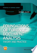 Foundations of Forensic Document Analysis Book