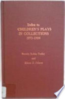 Index to Children s Plays in Collections  1975 1984