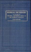 Bashgali Dictionary