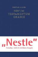 100 Jahre Novum Testamentum Graece 1898 1998 Book