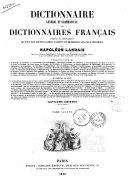Dictionnaire General et Grammatical des Dictionnaires Francais