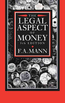 The Legal Aspect of Money
