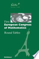 First European Congress Of Mathematics
