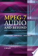 MPEG 7 Audio and Beyond