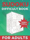 Sudoku Difficult Book For Adults