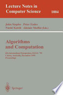 Algorithms And Computations Book PDF