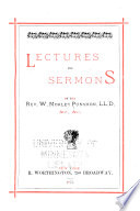 Lectures And Sermons PDF
