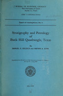 Pdf Stratigraphy and Petrology of Buck Hill Quadrangle, Texas