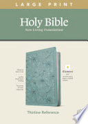 NLT Large Print Thinline Reference Bible, Filament Enabled Edition (Red Letter, Leatherlike, Floral/Teal)