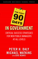 The First 90 Days in Government Pdf/ePub eBook