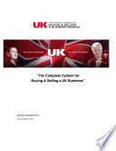 The Uk Buying Selling A Business Manual