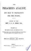 The Preacher s Analyst