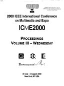 2000 IEEE International Conference on Multimedia and Expo  Wednesday