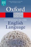 Oxford Companion to the English Language Pdf/ePub eBook
