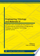 Engineering Tribology and Materials IV