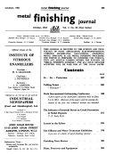 Metal Finishing Journal