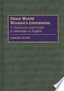 Third World Women S Literatures