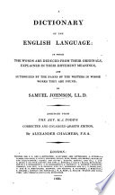A Dictionary of the English Language     Abridged from the Rev  H  J  Todd s     enlarged quarto edition  by A  Chalmers Book