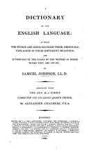 A Dictionary of the English Language     Abridged from the Rev  H  J  Todd s     enlarged quarto edition  by A  Chalmers